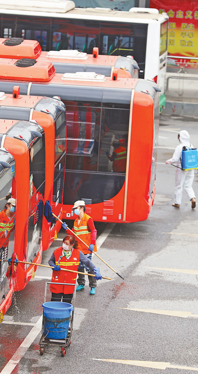 武汉恢复部分公交线路运营