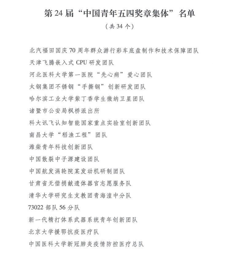 """京东物流武汉亚一城配青年车队集体被授予第24届""""中国青年五四奖章集体"""""""
