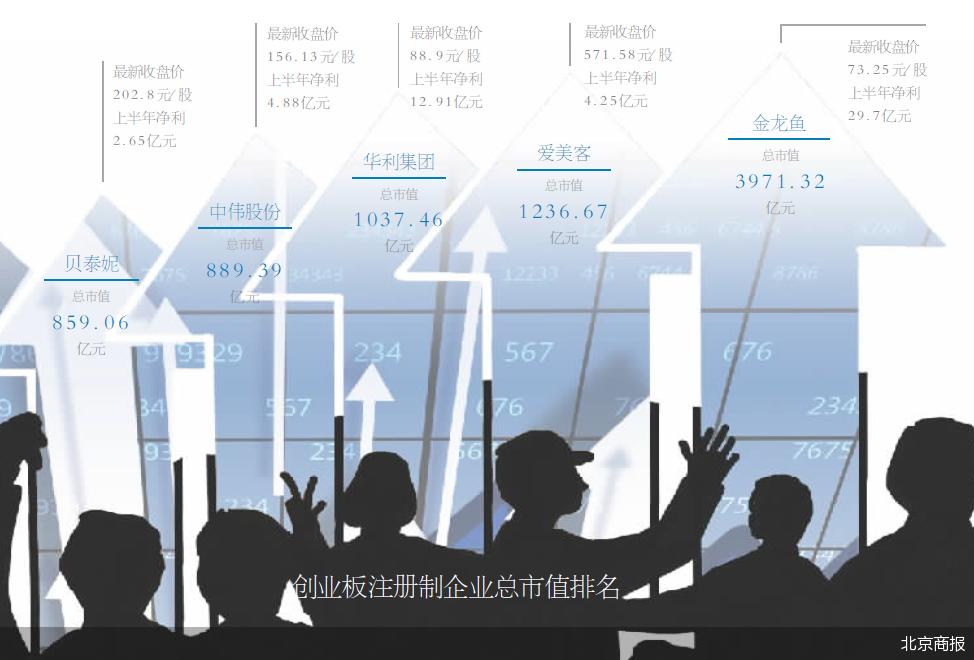 創業板注冊制下企業上市數量已達203股 合計總市值1.92萬億元